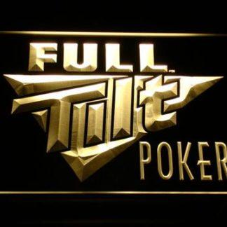 Full Tilt Poker neon sign LED