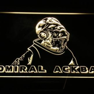 Star Wars Admiral Ackbar neon sign LED