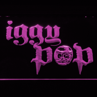 Iggy Pop Skull Ring neon sign LED