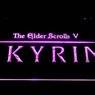Skyrim The Elder Scrolls neon sign LED