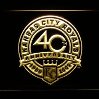 Kansas City Royals 40th Anniversary Logo - Legacy Edition neon sign LED
