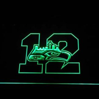 Seattle Seahawks 12th Man neon sign LED