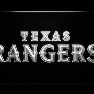Texas Rangers Text neon sign LED