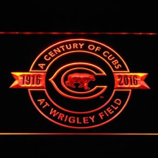 Chicago Cubs 100th Anniversary Wrigley Stadium - Legacy Edition neon sign LED