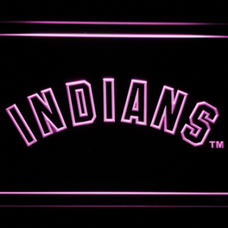 Cleveland Indians Text neon sign LED