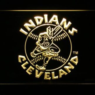 Cleveland Indians 1973-1978 Text - Legacy Edition neon sign LED