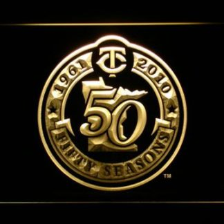 Minnesota Twins 50th Anniversary Logo - Legacy Edition neon sign LED