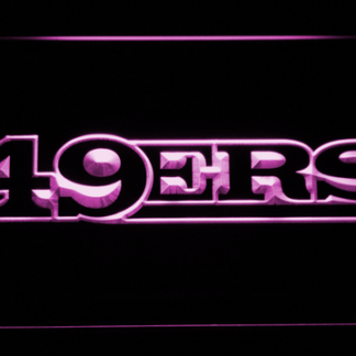 San Francisco 49ers Text neon sign LED
