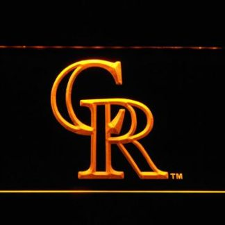Colorado Rockies CR neon sign LED