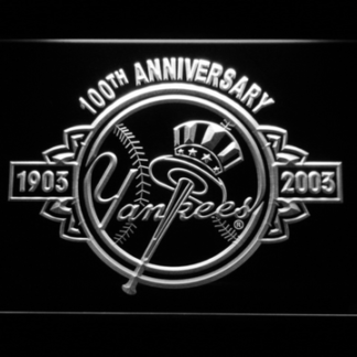 New York Yankees 100th Anniversary Logo - Legacy Edition neon sign LED