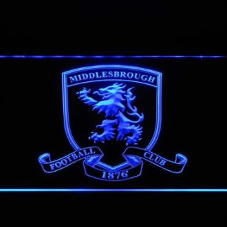 Middlesbrough Football Club 2 neon sign LED