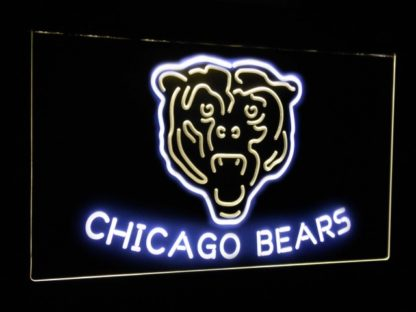 Chicago Bears Football Bar Decoration Gift Dual Color Led Neon Sign neon sign LED