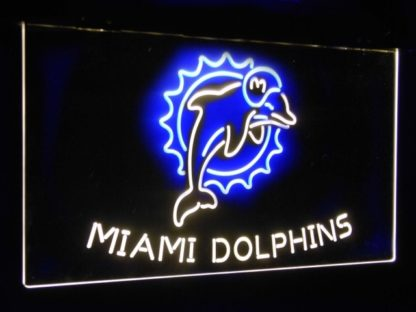 Miami Dolphins Football Bar Decoration Gift Dual Color Led Neon Sign neon sign LED