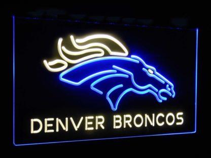 Denver Broncos Football Bar Decoration Gift Dual Color Led Neon Sign neon sign LED