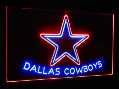 Dallas Cowboys Star Football Bar Decor Dual Color Led Neon Sign neon sign LED