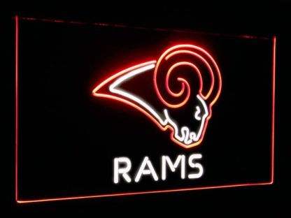 Los Angeles Rams Football Bar Decoration Gift Dual Color Led Neon Sign neon sign LED