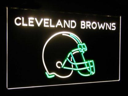 Cleveland Browns Football Bar Decoration Gift Dual Color Led Neon Sign neon sign LED