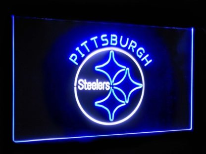 Pittsburgh Steelers Football Bar Decor Dual Color Led Neon Sign neon sign LED