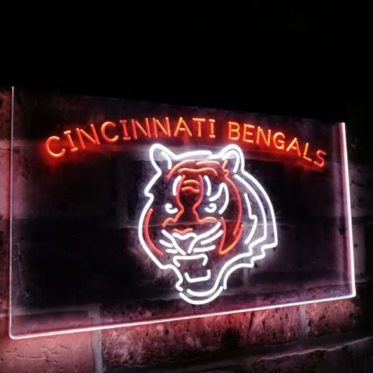 Cincinnati Bengals Football Bar Decor Dual Color Led Neon Sign neon sign LED
