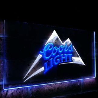 Coors Light Beer Bar Decoration Gift Dual Color Led Neon Sign neon sign LED