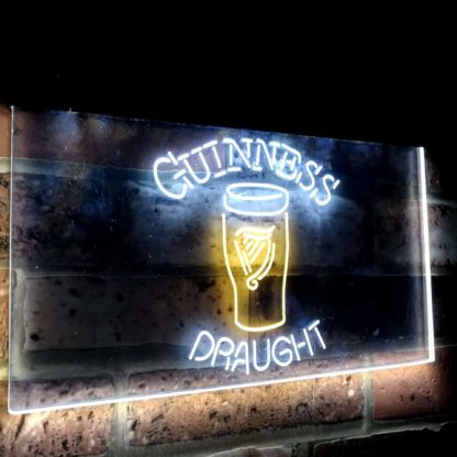 Guinness Draught Ale Beer Bar Decoration Gift Dual Color Led Neon Sign neon sign LED
