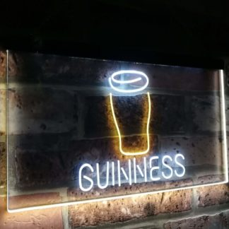 Guinness Glass Beer on tap Bar Decor Dual Color Led Neon Sign neon sign LED
