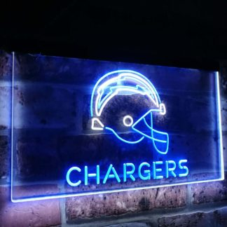 Los Angeles Chargers Football Bar Decor Dual Color Led Neon Sign neon sign LED