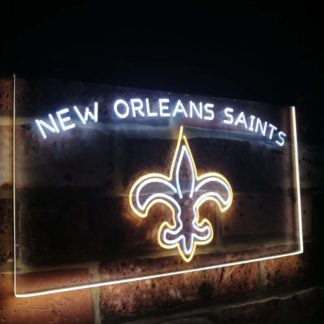 New Orleans Saints Football Bar Decor Dual Color Led Neon Sign neon sign LED