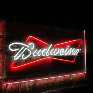 Budweiser Classic Beer Bar Decoration Gift Dual Color Led Neon Sign neon sign LED