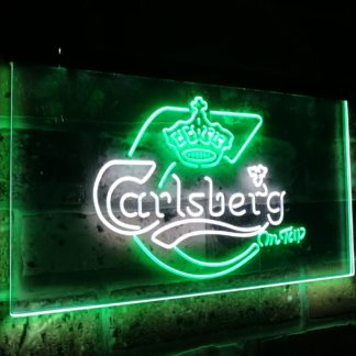 Carlsberg on tap Fresh Beer Bar Decor Dual Color Led Neon Sign neon sign LED