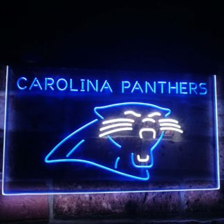 Carolina Panthers Football Bar Decor Dual Color Led Neon Sign neon sign LED