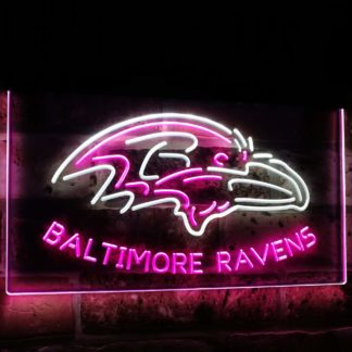 Baltimore Ravens Football Bar Decoration Gift Dual Color Led Neon Sign neon sign LED