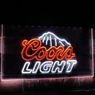 Coors Light Mountain Beer Bar Decoration Gift Dual Color Led Neon Sign neon sign LED