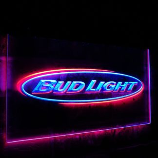 Bud Light Beer Bar Decoration Gift Dual Color Led Neon Sign neon sign LED