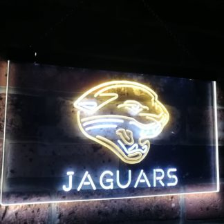 Jacksonville Jaguars Football Bar Decor Dual Color Led Neon Sign neon sign LED