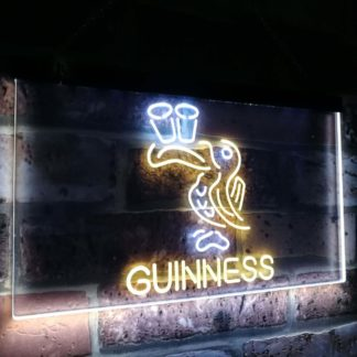 Lovely Day Guinness Beer Toucan Bar Decor Dual Color Led Neon Sign neon sign LED