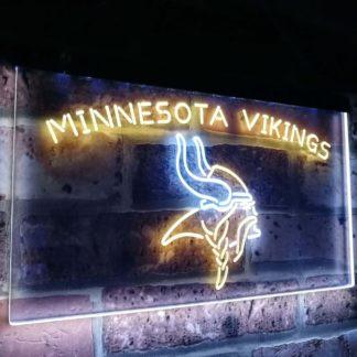 Minnesota Vikings Football Bar Decor Dual Color Led Neon Sign neon sign LED