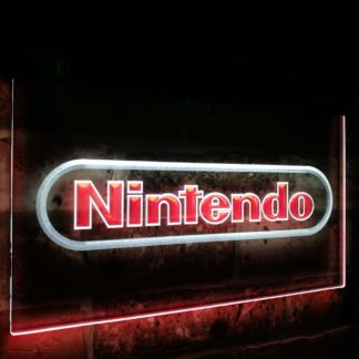 Nintendo Video Game Room Bar Decoration Gift Dual Color Led Neon Sign neon sign LED