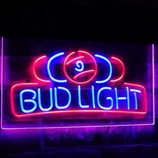 Bud Light Pool Room 9 Ball Snooker Billiard Dual Color Led Neon Sign neon sign LED