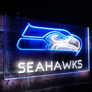 Seattle Seahawks Football NFL Bar Decor Dual Color Led Neon Sign neon sign LED