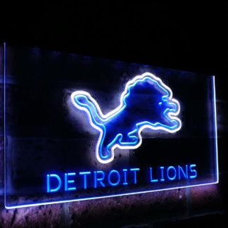 Detroit Lions Football Bar Decoration Gift Dual Color Led Neon Sign neon sign LED
