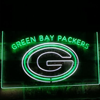 Green Bay Packers Football Bar Decor Dual Color Led Neon Sign neon sign LED