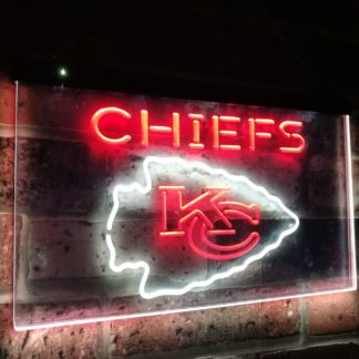 Kansas City Chiefs Football Bar Decor Dual Color Led Neon Sign neon sign LED