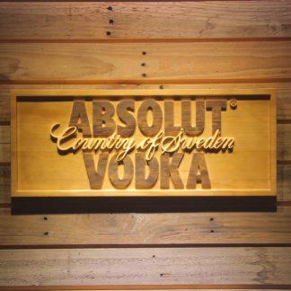 Absolut Vodka Wood Sign neon sign LED