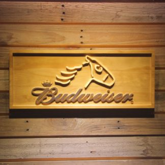Budweiser Horse Wood Sign neon sign LED