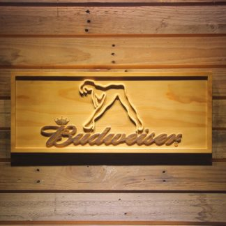 Budweiser Woman`s Silhouette Wood Sign neon sign LED