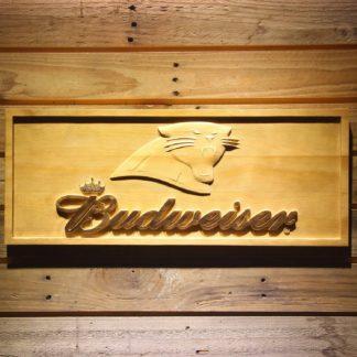 Carolina Panthers Budweiser Wood Sign neon sign LED