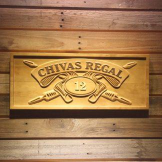 Chivas Regal 12 Wood Sign neon sign LED