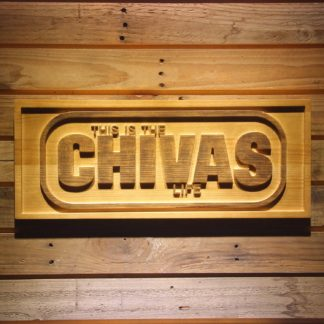 Chivas Regal Life Wood Sign neon sign LED