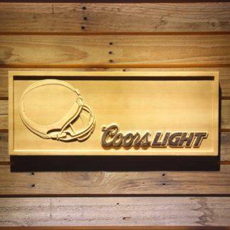 Cleveland Browns Coors Light Helmet Wood Sign neon sign LED